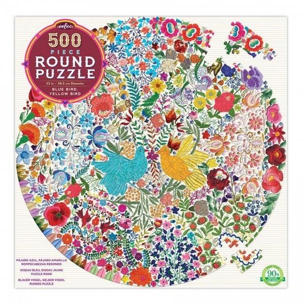 P738: 500 piece Puzzle - Blue Bird Yellow Bird