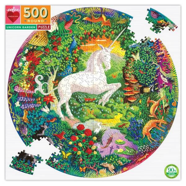 P739: 500 piece Puzzle - Unicorn Garden