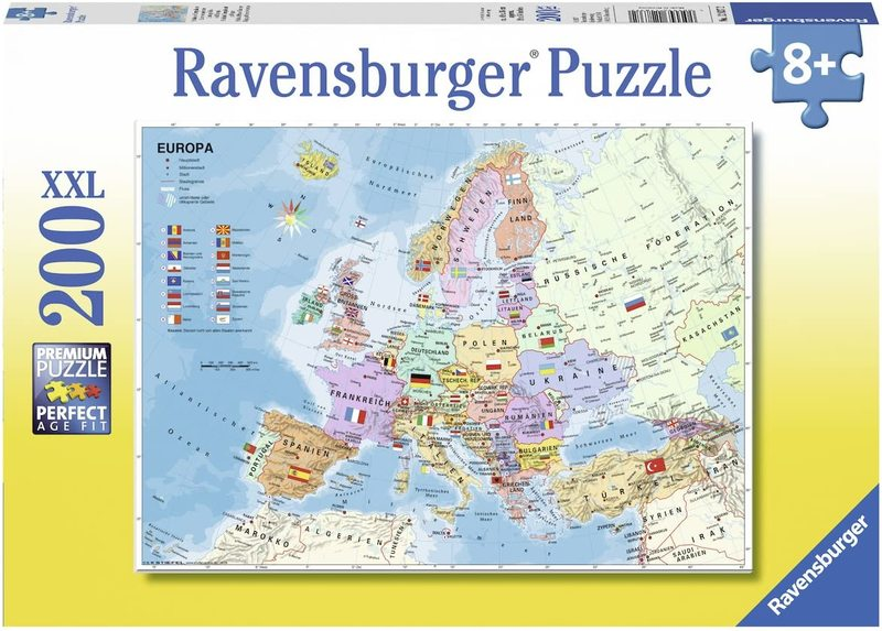 P750: 200 piece Puzzle - Map of Europe