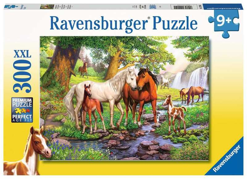 P756: 300 piece Puzzle - Horses by the Stream