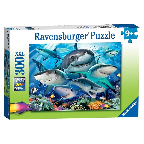 P760: 300 piece Puzzle - Smiling Sharks