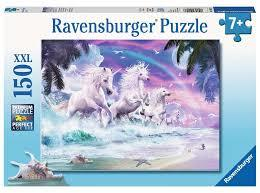 P768: 150 piece Puzzle - Unicorns on the Beach