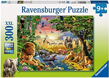 P783: 300 piece Puzzle - Evening at the Waterhole