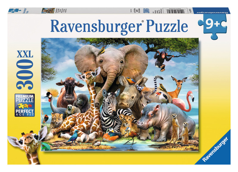 P177: 300 piece Puzzle - African Animal Friends