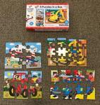 A12: Galt 4 Puzzles in a box