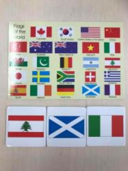 B2: Flags of the World Memory Game
