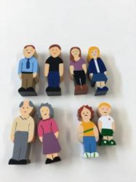 E29: Wooden Caucasian Family Block Set