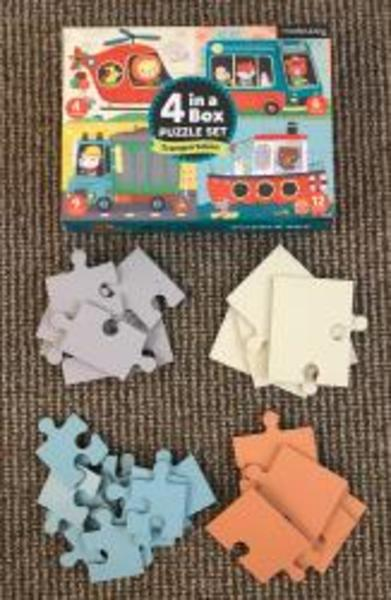 A9: Mudpuppy 4 in a box puzzle set