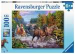A229: Ravensburger Rushing River Horses Puzzle 100 piece