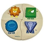 7088: FUNNY FOUR ANIMAL SHAPES INSET PUZZLE