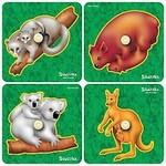 7095: NATIVE BABY ANIMALS INSET PUZZLE SET