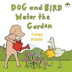 7248: DOG AND BIRD WATER THE GARDEN