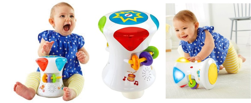 7301: BRIGHT BEATS 2-IN-1 MUSICAL DRUM ROLL