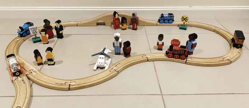 E6004: Wooden Train Set