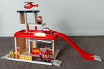 111: Wooden Fire Station Playset
