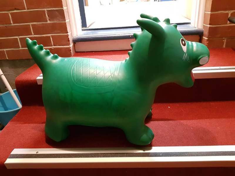 711: Happy Hopperz Green Dino