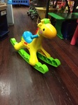 A2.077.7: YELLOW PLASTIC ROCKING HORSE