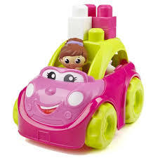 C3.028.5: PINK AND GREEN WAGON WITH BLOCKS