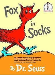 E3.908.2: DR SEUSS FOX IN SOCKS BOOK