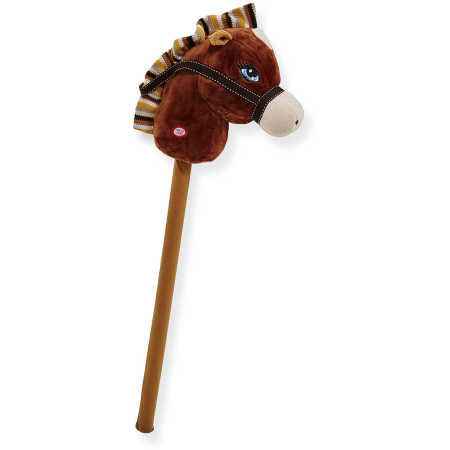 G2.004.3: BROWN PLUSH HOBBY HORSE