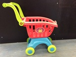 E2.338.5: Plastic Shopping Trolley with Food Items