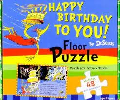 C2.090.2: HAPPY BIRTHDAY TO YOU! Dr Seuss FLOOR PUZZLE