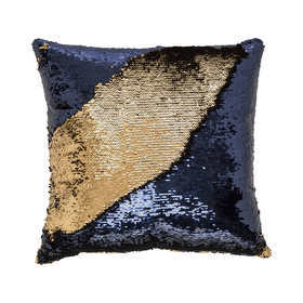 C4.021.2: BLUE & GOLD SEQUIN CUSHION