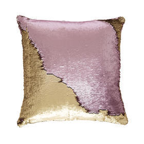 C4.021.3: PINK & GOLD SEQUIN CUSHION