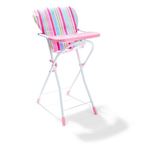 E2.086.2: Plastic Pink High Chair