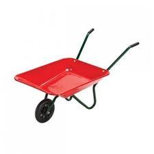 G2.094.3: RED METAL WHEELBARROW