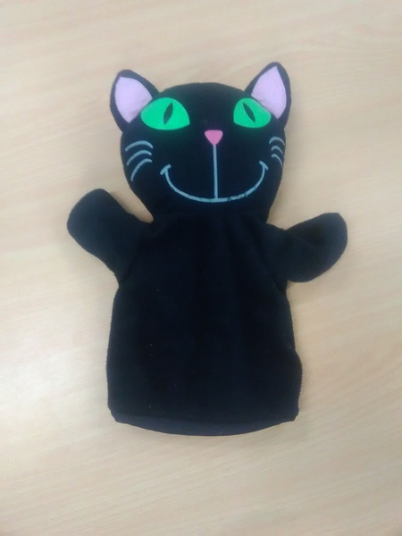 E2.112.61: BLACK CAT PUPPET