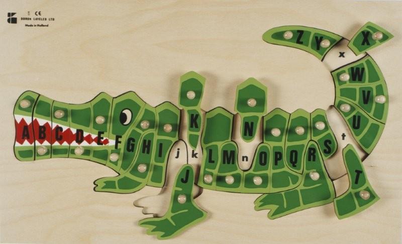 C2.706.2: Alphabet Crocodile Knob Puzzle