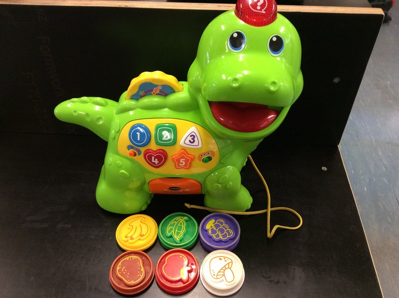 B2.537.3: Feed Me Dino Pull Along Activity Toy