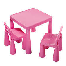 E2.040.2: PINK TABLE AND CHAIR SET