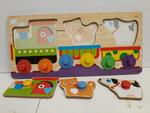 C2.010.9: Animal  & Colours Train Puzzle