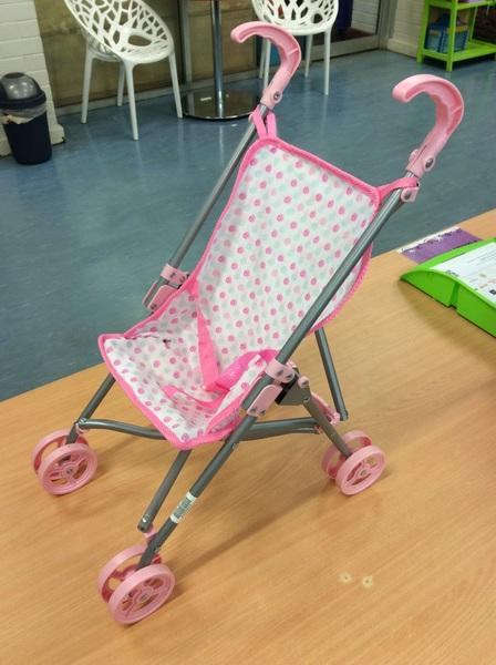 E2.429.5: Pink Doll Pram