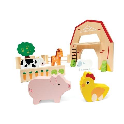 E2.419.2: Wooden Farm Playset