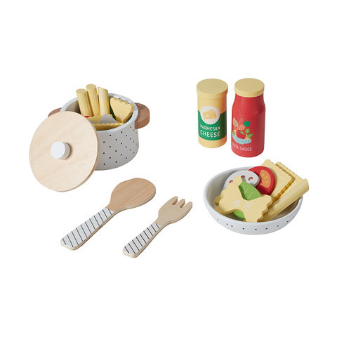 E2.095.1: Wooden Pasta Bowl Set