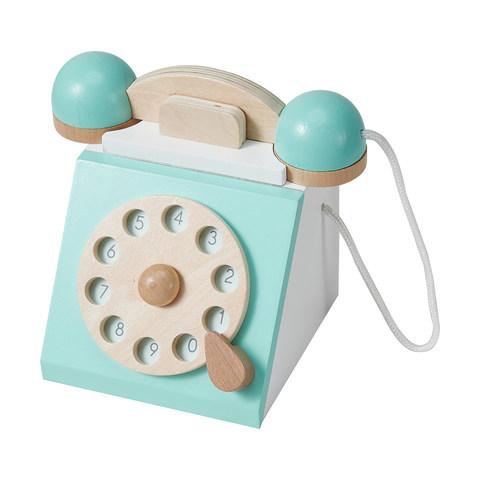 E2.847.1: Wooden Retro Phone