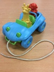 B1.196.2: Green Toy Dune Buggy Pull Toy