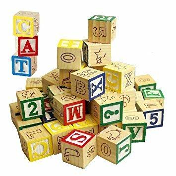 C306011: Alphabet / Number Wooden Blocks