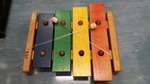 D2.306.1A: GIANT XYLOPHONE WITH LARGE WOODEN MALLET