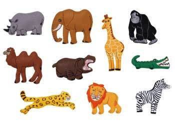C4.896.2: LARGE FELT PIECES - Animals