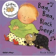 E3.873.1: BAA BAA BLACK SHEEP SIGN & SINGALONG BOOK