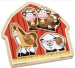 C2.728.3: JUMBO KNOB PUZZLE-BARN ANIMALS