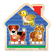 C4.1027.1: JUMBO KNOB PUZZLE-HOUSE PETS