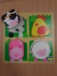 C4.1052.1: CHUNKY FARM ANIMAL TACTILE PUZZLE