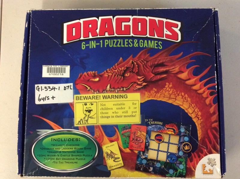G1.334.1: DRAGONS - 6 IN 1 PUZZLES AND GAMES