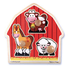 C2.083.1: Large Knobbed Farm Animal Puzzle