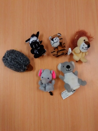 E2.463.50: Wild Animal Finger Puppets